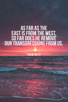 As far as the East is from the West...can you imagine?