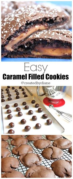 Easy caramel Filled Cookies @createdbydiane ONLY 4 INGREDIENTS to make these!