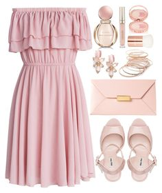 """Untitled #4460"" by natalyasidunova ❤ liked on Polyvore featuring Chicwish, Miu Miu, STELLA McCARTNEY, Kate Spade, Red Camel, Bulgari, Stila, Lancôme and By Terry"