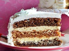 Torta sa orasima i kafom Torte Recepti, Kolaci I Torte, Albanian Recipes, Croatian Recipes, Brze Torte, Cookie Recipes, Dessert Recipes, Walnut Recipes, Torte Cake