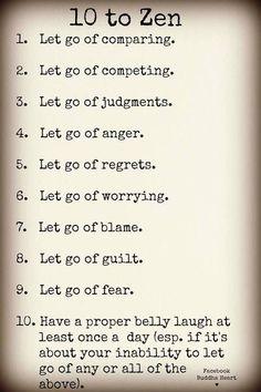 10 to Zen. Love it.
