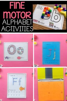 These letter tracing activities are a fun way for preschool and kindergarten children to learn proper letter formation while developing fine motor skills. Simply print out the worksheets and place in a learning center for students to practice the alphabet letters over and over again! #finemotorskills#alphabetactivities #kindergarten#preschool