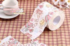 imprimir rollos de papel higiénico de compang multicolor bumboats weazands papel higiénico tejido multicolor
