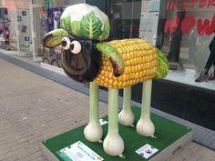 Shaun the sheep across the city