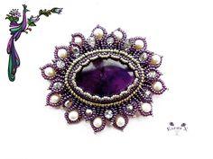 Hobby World ( бисероплетение ) Bead Embroidery Jewelry, Beaded Jewelry Patterns, Beaded Embroidery, Beading Patterns, Barrettes, Beading Tutorials, Bead Art, Bead Weaving, Beaded Necklace