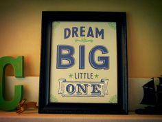 Dream Big Art Print by Earmark Social $ 20 >> I love the orange color!