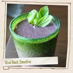 Blue Basil Smoothie | Made Just Right by Earth Balance #vegan #earthbalance