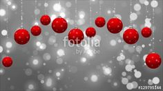 Christmas Animated Card with Red Ornaments