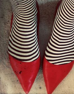 wicked witch red shoes print
