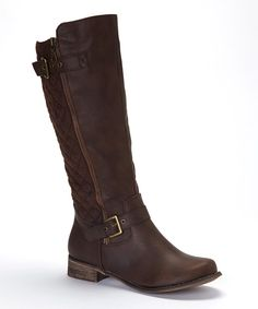 Love this Fashion Focus Brown Buckle Grace Boot by Fashion Focus on #zulily! #zulilyfinds