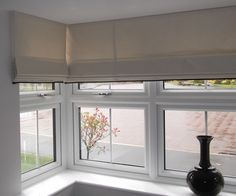 Roman Blinds into a Bay