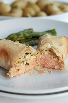 I use filo pastry for these super simple, healthy salmon filo parcels. Filo pastry is easier to roll than traditional pastry and it doesn't have the high levels of saturated fat. Try it, you might just be surprised!