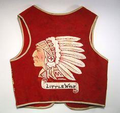 Vintage 1950's Child's Cowboys And Indians Felt Vest. $21.00, via Etsy.