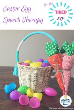 For the SLP too busy to stuff, print, or prep Easter eggs for speech therapy