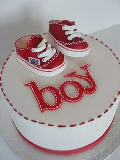 Baby Boy Cake or Switch Colors for a Girl