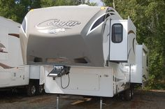 2013 Cougar Used Fifth Wheel RV - Triple Slide Rear Entertainment - Kitsmiller RV Used Rvs, Fifth Wheel, Rvs For Sale, Recreational Vehicles, Entertainment, Camper, Campers, Entertaining, Single Wide
