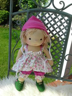 RESERVED  Waldorf doll 13.8 tall doll steiner doll