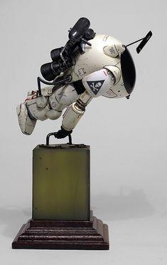 1:20 sci-fi scale model, Maschinen Krieger: Fireball, by Marcel du Long. Pinned by #relicmodels