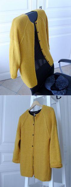 Практичный жакет реглан платочным узором на пуговицах. Sweet Olivia Cardigan by DROPS design.