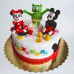 Tort cu Mickey, Minnie si Gummy Bear