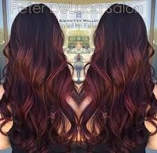 Image result for burgundy balayage ombre