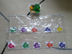 Teaching Counting & Numeral Recognition with Counting Tray & Zip Lock Bags