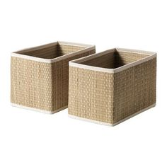 SÅLNAN Basket, seagrass seagrass 9 ¾x6 ¼x6 ¼ - another DVD storage option?? I like this color better anyway.