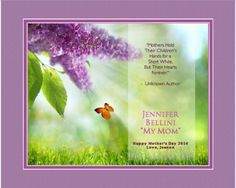 """Personalized """"Mother's Day II"""" - 13 x 16 Framed HD Print With Digital Mat"""