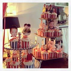 Birthday cupcake photo toppers