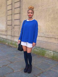 Paris fashion week look, via Facehunter
