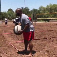 Kind of volleyball for strong men