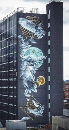 Murals Street Art, Street Art Graffiti, Mural Art, Wall Art, Amazing Street Art, Amazing Art, Illustrations, Illustration Art, Seen Graffiti