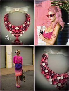 Pastel z'ett bijou statement necklace