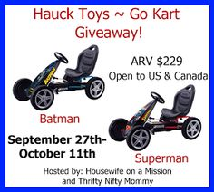 Hauck Toys Go Kart Giveaway! US/CAN (ARV $229)