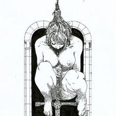 WEBSTA @ nudegrafia - Eu fiz uma mulher empoleirada e debruçada sobre a espada, jogando o peso de seu corpo sobre a empunhadura, da forma que imaginei dar mais dramaticidade à cena. Essa postagem é para responder a perguntas até agressivas que vi na postagem original. Ela não está fazendo nada sexual com a espada. As pessoas que se dirigiram à mim de forma agressiva o fizeram por algo que imaginaram ver. (I made a perched woman, leaning on his sword, supporting the weight of his body on the…