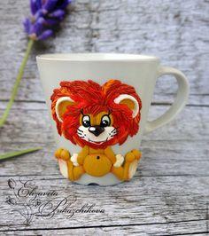 Кружки и чашки ручной работы. Заказать Кружка с декором из полимерной глины