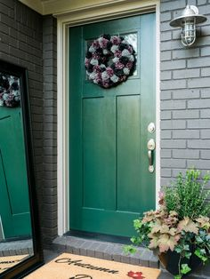 The experts at HGTV.com share 12 quick ways to spruce up your front porch for fall, like adding a DIY wreath, a DIY doormat, seasonal greenery and more.