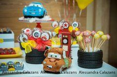 Lightning McQueen + Cars themed birthday party with Such Cute Ideas via Kara's Party Ideas Kara Allen KarasPartyIdeas.com #lightningmcqueen #carsparty #partydecor #karaspartyideas (14)
