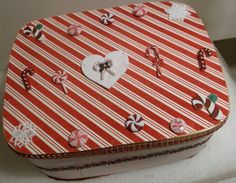Candy Cane Ornament Box