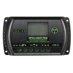 10A 20A 30A PWM LCD USB Solar Panel Battery Regulator Charge Controller 12V 24V Sale - Banggood.com