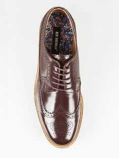 Deon Long Wing Brogue Shoe   Oxblood   Ben Sherman