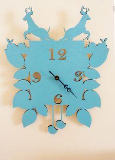 Modern Whimsy Cuckoo Clock (Sky Blue) by Snowfawn