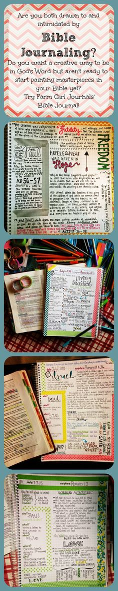 Love these Bible Journals! They are so easy to use and you can go basic and just…