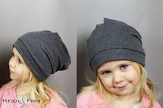 Kinder Beanie nähen . Freebook HeidiandFinn modern wears for kids: Slouchy Beanie hat - FREE pattern for kids clothes week
