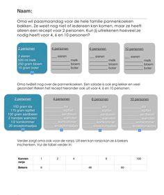 Werkblad verhoudingen groep 5