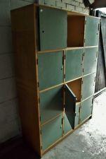 Vintage Industrial Retro Old School Wooden Pigeon Hole Locker Cupboard ESAVIAN