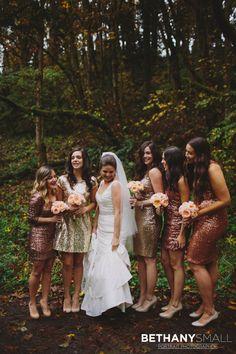 Bridal Party | Bridesmaids | Wedding Party | Glitter & Sparkle Bridesmaids Dresses