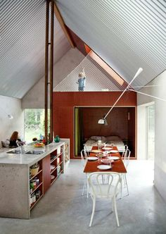 Hamra, a small barn-like vacation house by architects DinellJohansson on the island of Gotland, Sweden.