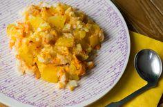 Breng je baby op een culturele smaakbeleving met baby bloemkool mango curry. Lekkere babyvoeding voor als je kleine klaar is om combinaties te proberen.