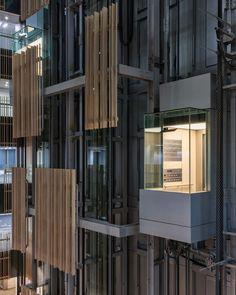 Kengo Kuma Toshima Ward office | Tokyo, Japan #elevator #goingup #screening
